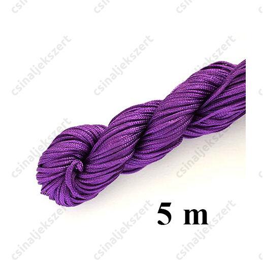 Fonott selyemszál 1 mm vastag 5 m Lila
