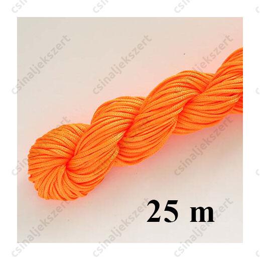 Fonott selyemszál 1 mm vastag 5 m Neon Narancs