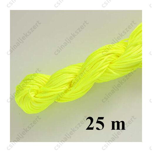 25 m Neon sárga fonott selyemszál
