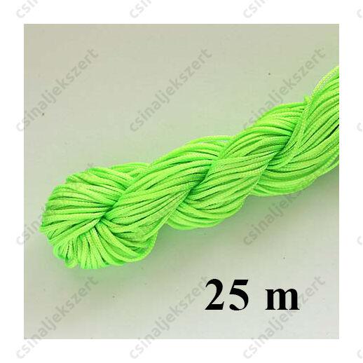 Fonott selyemszál 1 mm vastag 5 m Neon Zöld