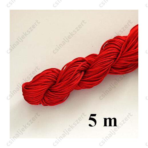 Fonott selyemszál 1 mm vastag 5 m Piros