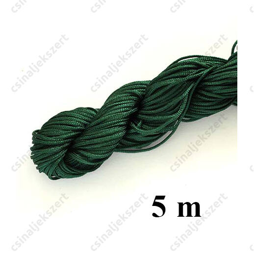 Fonott selyemszál 1 mm vastag 5 m Sötét Zöld