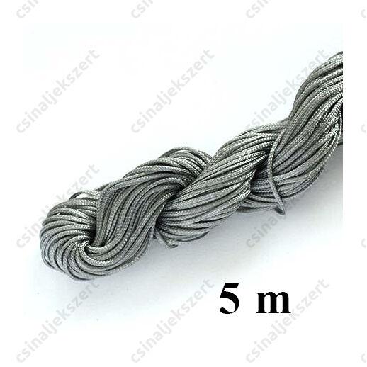 Fonott selyemszál 1 mm vastag 5 m Szürke