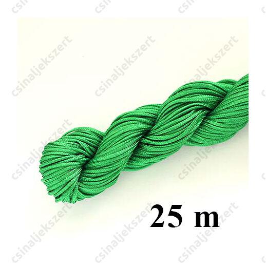 25 m Zöld fonott selyemszál