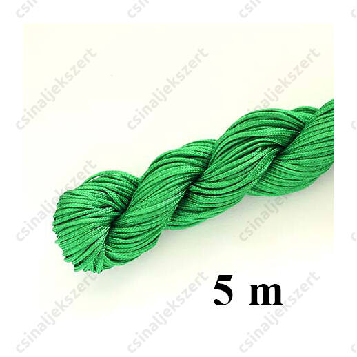Fonott selyemszál 1 mm vastag 5 m Zöld