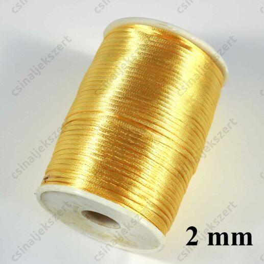 Halvány Aranysárga 2 mm vastag (patkány farok) fonott selyemszál