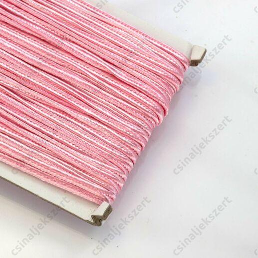 Halvány rózsaszín 3mm-es sujtás zsinór