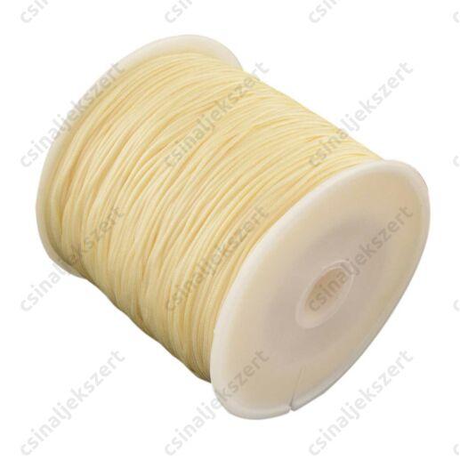 Halvány Sárga 0.8 mm vastag fonott selyemszál
