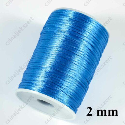 Kék 2 mm vastag (patkány farok) fonott selyemszál