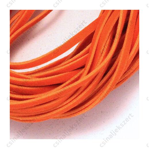 műbőr velúrszál narancssárga