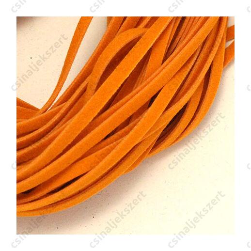 Lapos műbőr velúrszál 1 m Narancssárga világos