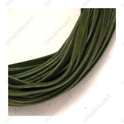 műbőr velúrszál zöld