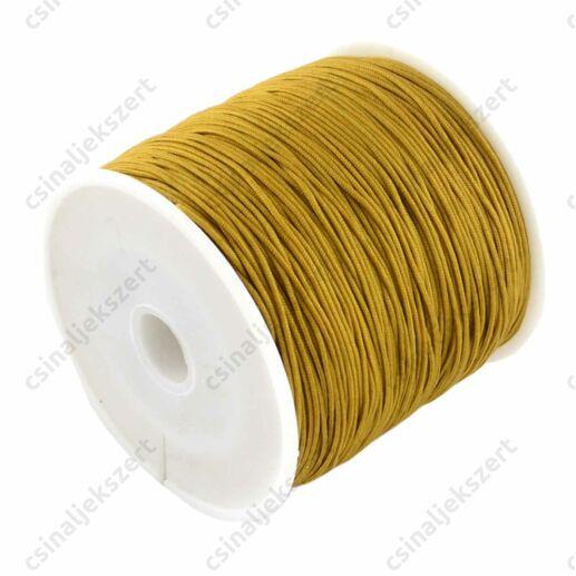 Mustársárga 0.8 mm vastag fonott selyemszál