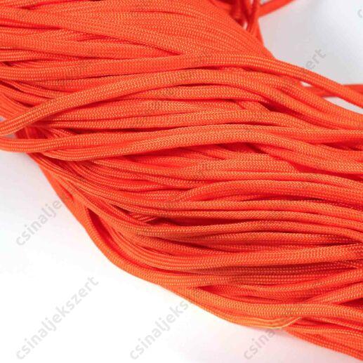 Narancssárga 4 mm vastag paracord stílusú fonott zsinór