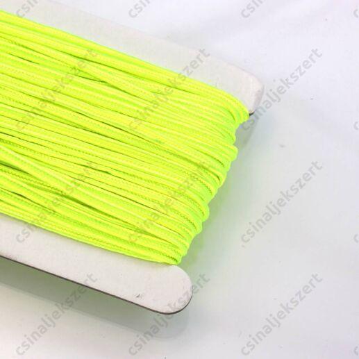 Neon sárga 3mm-es sujtás zsinór