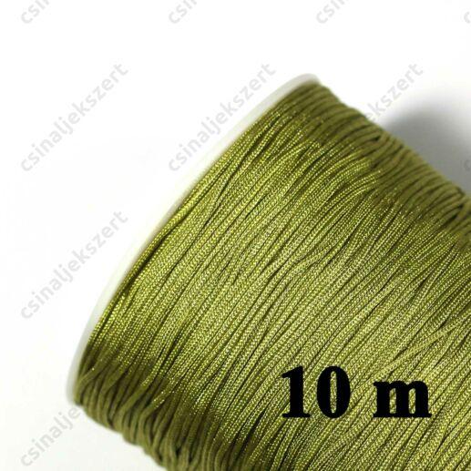 10 m Oliva zöld 0.8 mm vastag fonott selyemszál