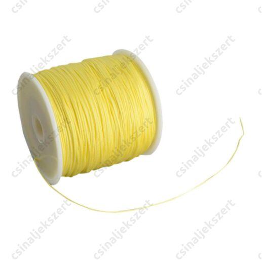 Pezsgő Sárga 0.8 mm vastag fonott selyemszál