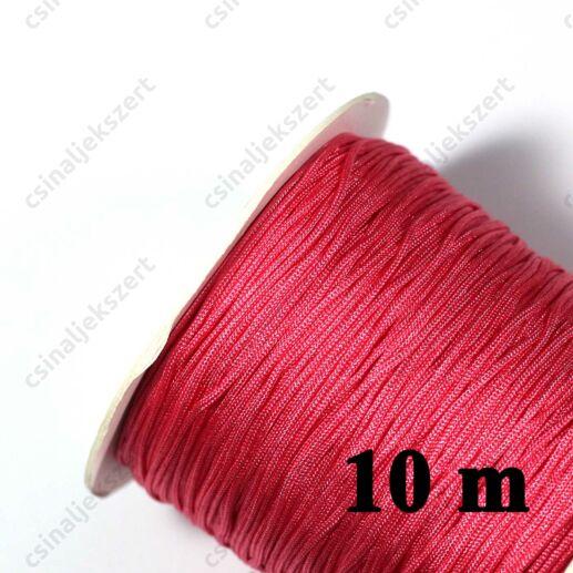 Pink 0.8 mm vastag fonott selyemszál