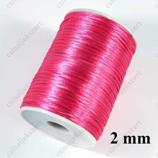 Pink 2 mm vastag (patkány farok) fonott selyemszál