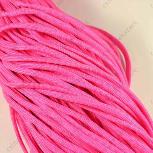 Pink 4 mm vastag paracord stílusú fonott zsinór