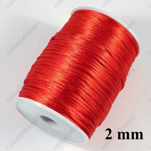 Piros 2 mm vastag (patkány farok) fonott selyemszál