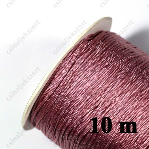 Rózsaszín 0.8 mm vastag fonott selyemszál
