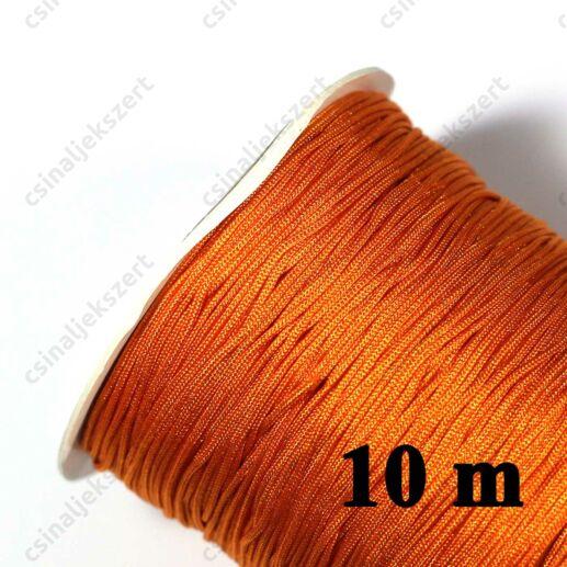 Sötét Narancssárga 0.8 mm vastag fonott selyemszál