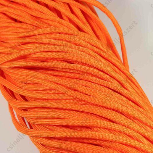 Élénk narancssárga 4 mm vastag paracord stílusú fonott zsinór