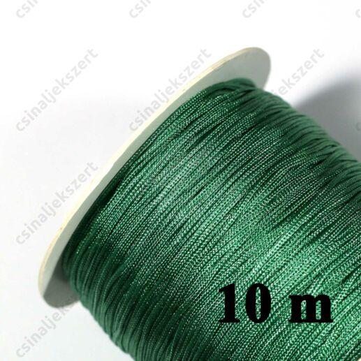 Sötét Tengerzöld 0.8 mm vastag fonott selyemszál