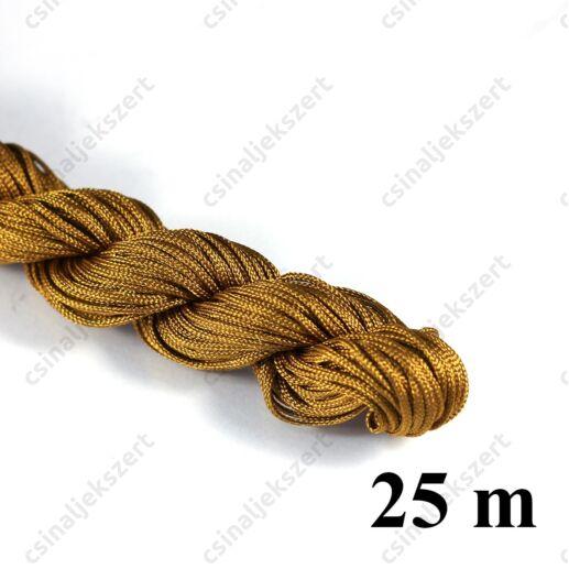 25 m Szienna fonott selyemszál