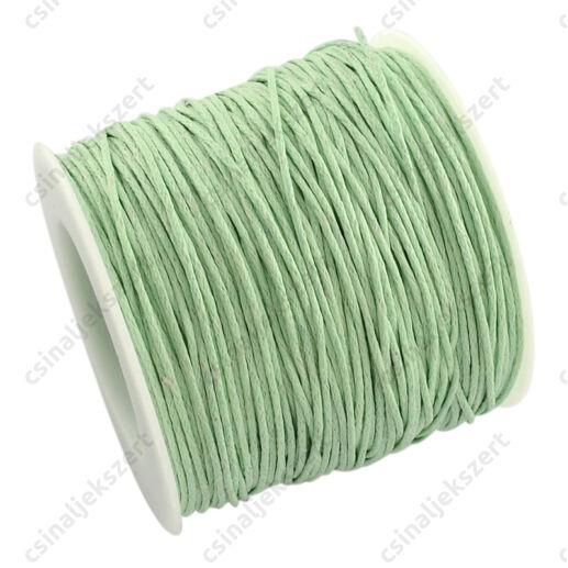 5 m Vékony viaszolt szál Halvány zöld