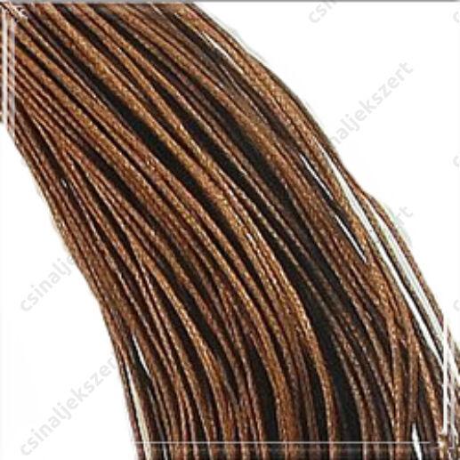Viaszolt kord szál 1 mm barna