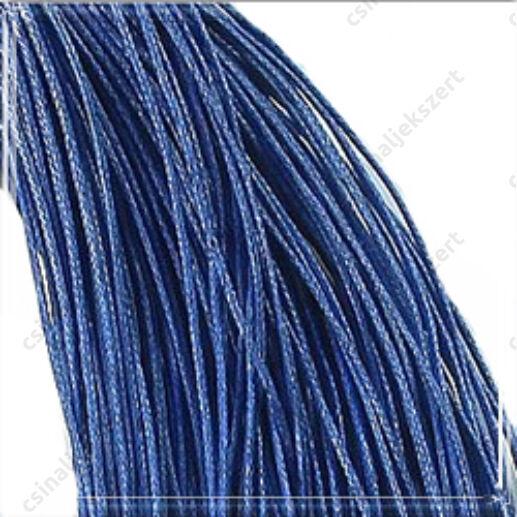 Viaszolt kord szál 1 mm kék