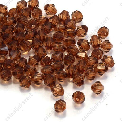 6 mm Barna bicone kúpos akril gyöngy
