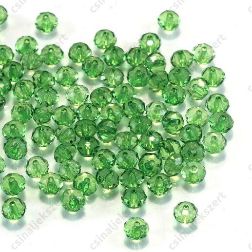 6x4 mm Zöld abacus rondell alakú akril gyöngy