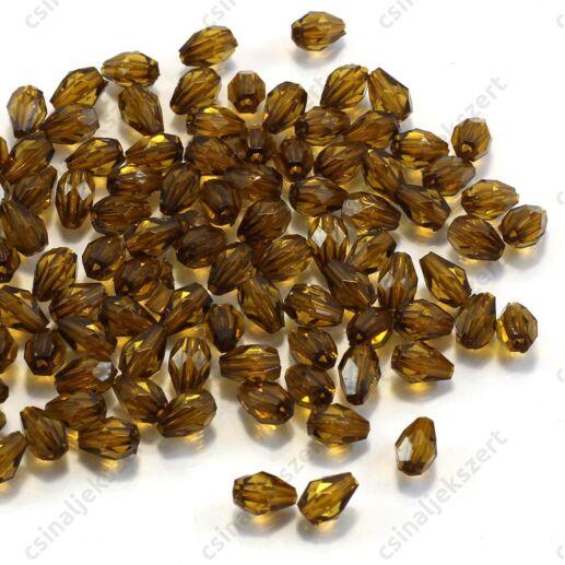 7x5 mm Oliva csepp alakú akril gyöngy