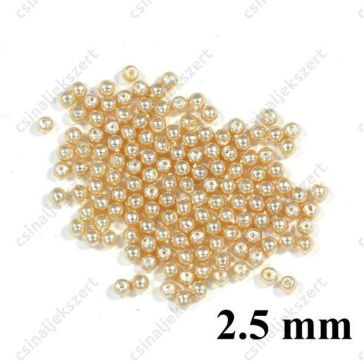 Cseh 2.5 mm Ekrü színű teklagyöngy
