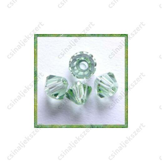 Csiszolt bicone gyöngy 3 mm Chrysolite 20 db