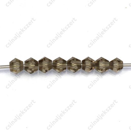 Csiszolt bicone kristály gyöngy 4 mm Slate Gray