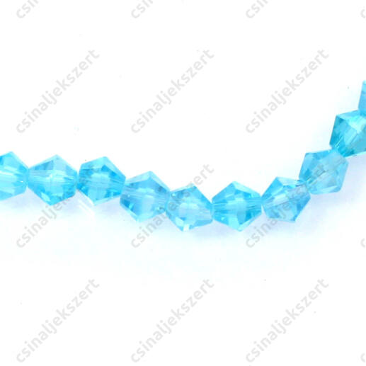 Csiszolt bicone kúpos kristály gyöngy 4 mm Caribbean Blue AB