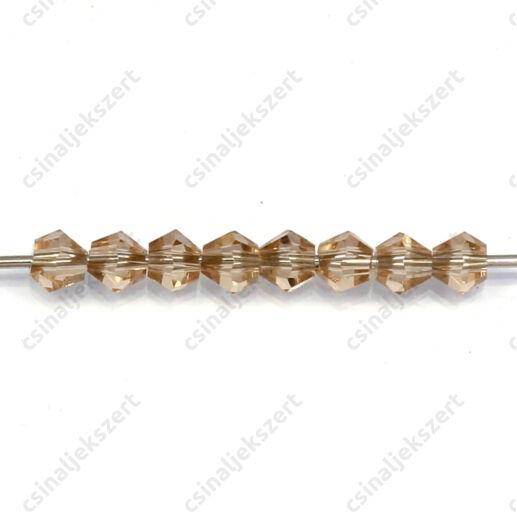 Csiszolt bicone kúpos kristály gyöngy 4 mm Dark Khaki