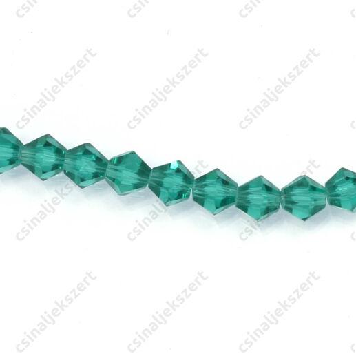 Csiszolt bicone kúpos kristály gyöngy 4 mm Emerald
