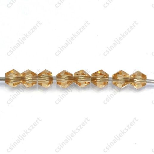 Csiszolt bicone kúpos kristály gyöngy 4 mm Pale Goldenrod