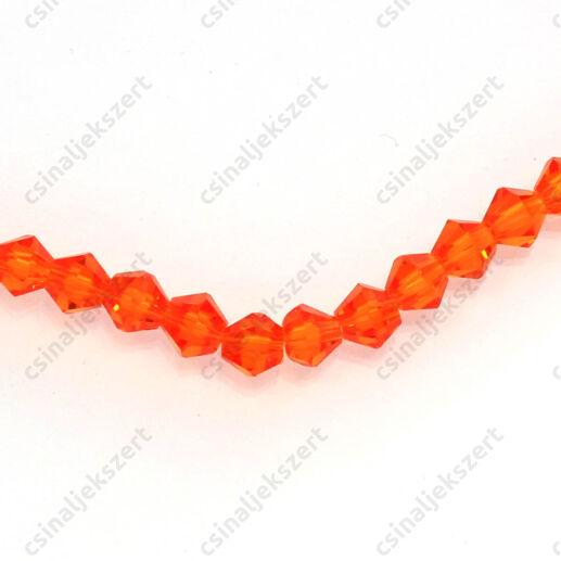 Csiszolt bicone kúpos kristály gyöngy 4 mm Fire Opal