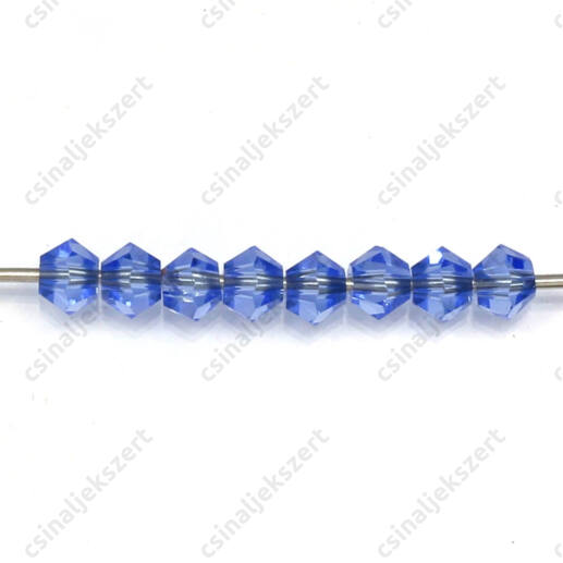 Csiszolt bicone kúpos kristály gyöngy 4 mm Sky Blue