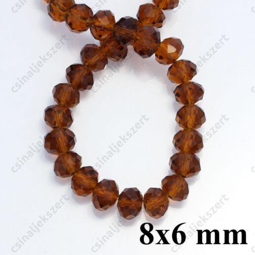 Csiszolt rondell abacus kristály gyöngy 4x3 mm Topáz 1 szál