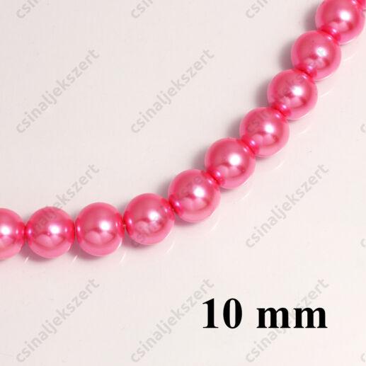 Tekla üveggyöngy Pink 10 mm