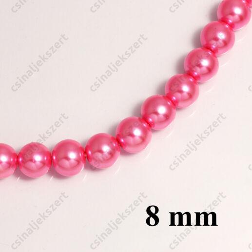 Tekla üveggyöngy Pink 8 mm