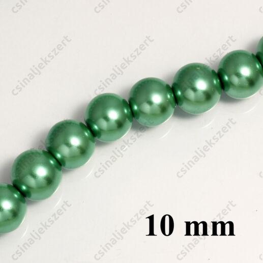 Tekla üveggyöngy Zöld 10 mm