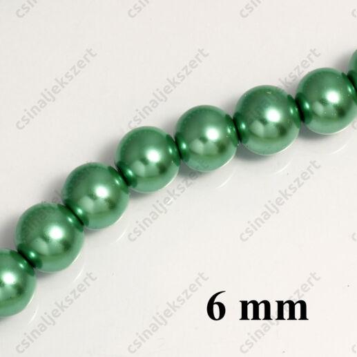Tekla üveggyöngy Zöld 6 mm